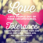 """Love vs. Tolerance"" by The Radiance Foundation"