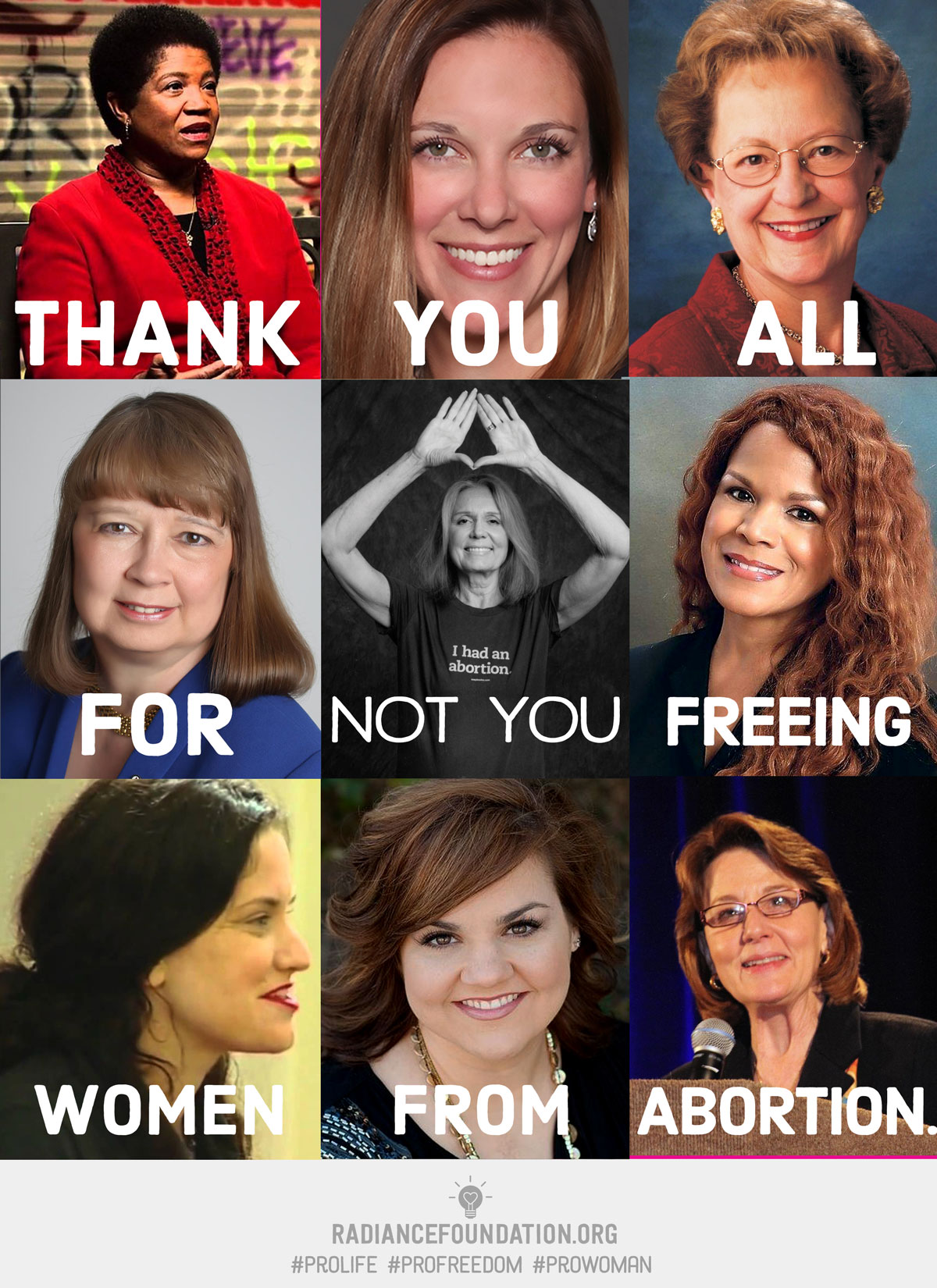 """NOT YOU - Freeing Women From Abortion"" by The Radiance Foundation"