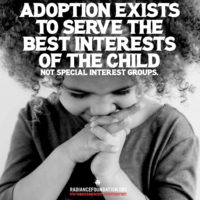 """ADOPTION EXISTS"" by The Radiance Foundation"